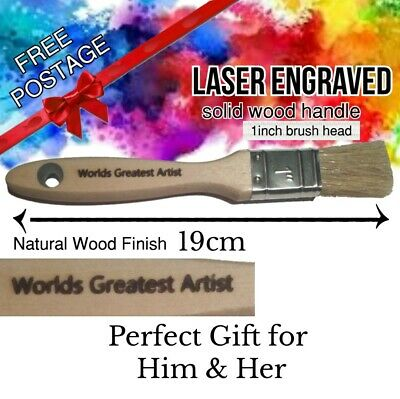 customised personalised laser engraved paint brush birthday present gift