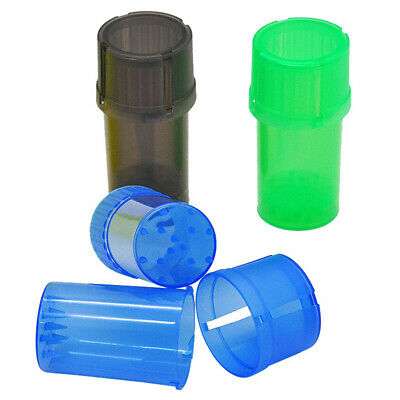 Plastic Herb Grinders Crusher Herbal Spice Mill Grinder Can Tobacco Case Box.