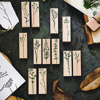 Forest Plants decoration stamp wooden rubber stamps for scrapbooking.