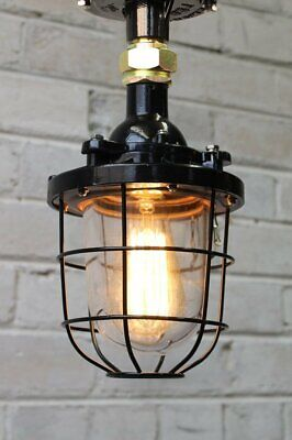 Cage Light Industrial Pendant - Ceiling Flush Mount