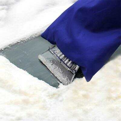 1stk Auto Snow Ice Shovel Scraper With Lined Glove Removal Clean Tool