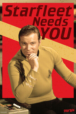 Star Trek Starfleet Needs You Captain Kirk TV Show Poster 12x18 Poster - 12x18