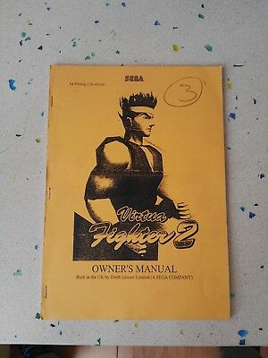 Sega Virtua Fighter 2 Original Owner´s  MAnual