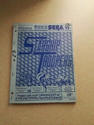 SEGA StarShip Troopers Original Pinball Manual