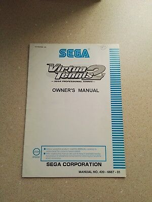SEGA Virtua Tennis 2 Original Owner´s Manual