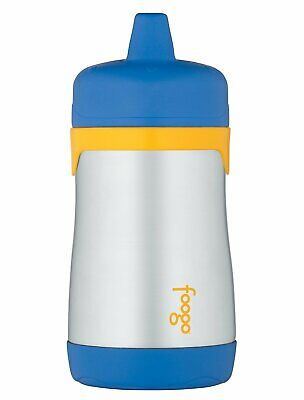 Thermos Foogo Phases Leak Proof Stainless Steel Sippy Cup,10 Ounce, Blue/Yellow