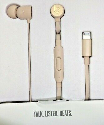 Genuine Beats by Dr. Dre urBeats3 Earphones Lightning Connector-Matte Gold