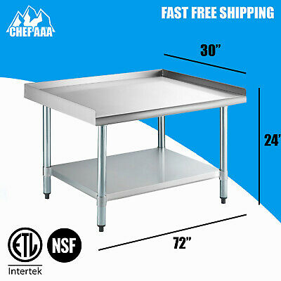 "NSF 30""D x 72""W x 24""H -  Stainless Steel Equipment Stand - Commercial Kitchen"