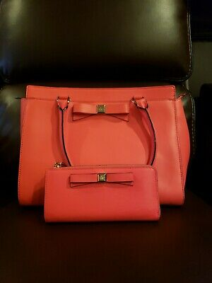 00b0ca11bc96 Kate Spade Purse Hot Orange RN 0102760/CA57710 w/ matching wallet, store  display
