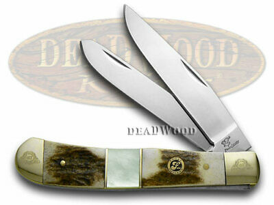 FROST FAMILY 40th Anv. Deer Stag Mother Pearl 1/600 Trapper 40-108SMS Knife