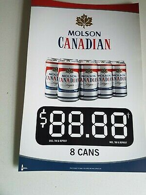MOLSON CANADIAN BEER POSTER ANSWER HONESTLY POSTER