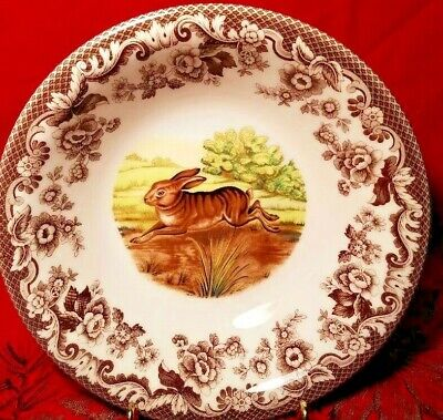 """Spode Woodland Rabbit Bunny Ascot Cereal Soup Bowl 8"""" Excellent Condition!"""