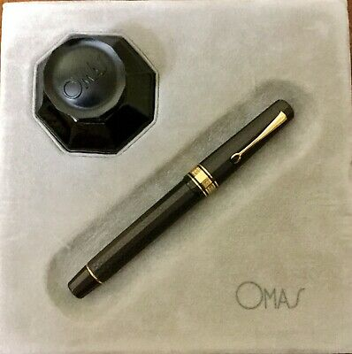 OMAS Art Deco Limited Edition Pearl Grey Fountain Pen Nib F18k NUMBER 059 of 931