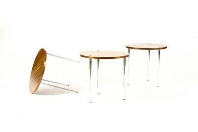 Danish Modern / Mid Century Round Nesting Table Set — Poul Nørreklit —Set B