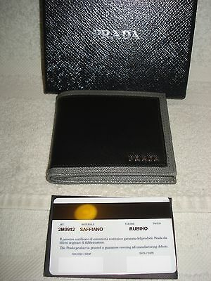 1788cc1496b9 100% Authentic Prada Saffiano Leather Credit Card Case/ Wallet/Bifold