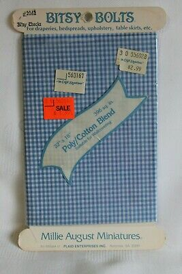 NOS Red Houndstooth Vintage Dollhouse Miniature Fabric Bitsy Bolt Millie August