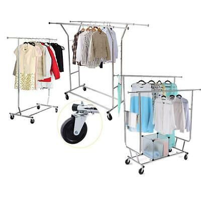 Hot Style Single/Double Commercial Cloth Rolling Dry Garment Rack Hanger Holder