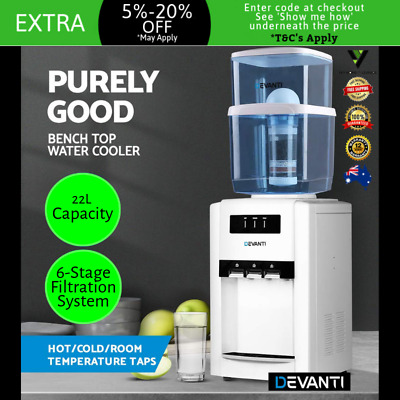 Water Filter Cooler Chiller Machine Bench Counter Top Purifier Hot & Cold Home