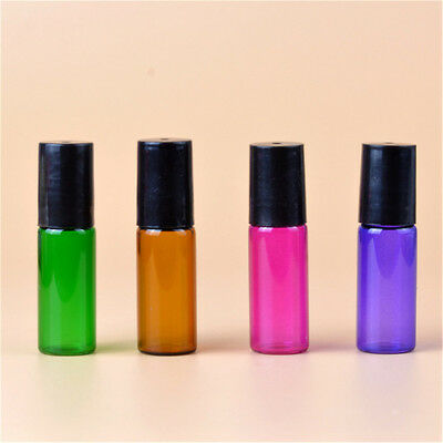 Colorful Roller Ball Roll On Glass Bottle Small For Perfume Essential Oil AL