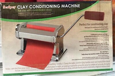 Sculpey Clay Conditioning Machine Silver Metal Oven Bake Clays New In Box