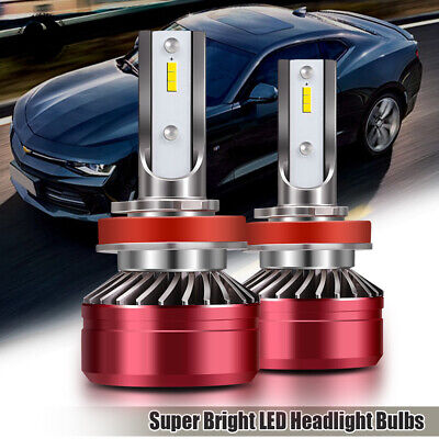 H11 H8 H9 LED Headlights Bulbs 60W 12000LM Kit With Low Beam Canbus 6000K White