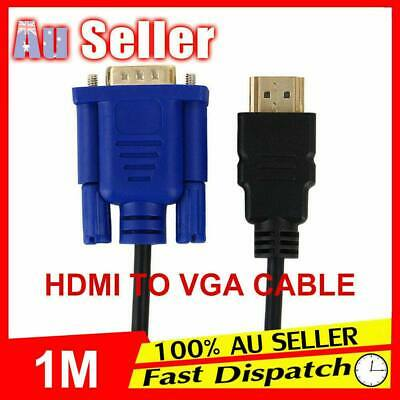 New HDMI HD Cable Adapter 15Pin Lead Laptop Monitor Male 1080P to VGA Converter