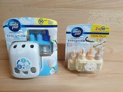 Ambi Pur 3volution Plug + cotten fresh refill + vanilla bouquet twin pack refil