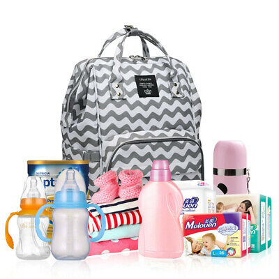 LEQUEEN Baby Diaper Bag Waterproof Mummy Maternity Nappy Travel Backpack Fashion