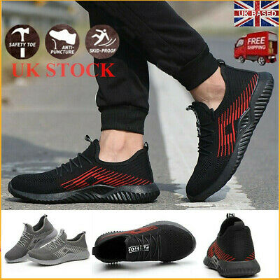 Mens Steel Toe Lightweight Safety Shoes Work Boots Sports Hiking Shoes Trainers