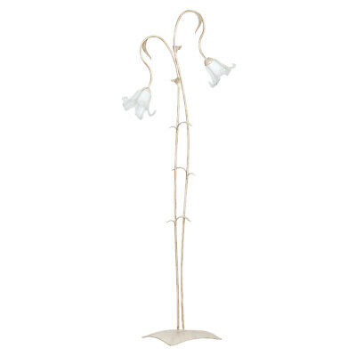 Floor Lamp Shabby 2x E27 Floral Lamp Stand Floor inside Glass New Dining Table