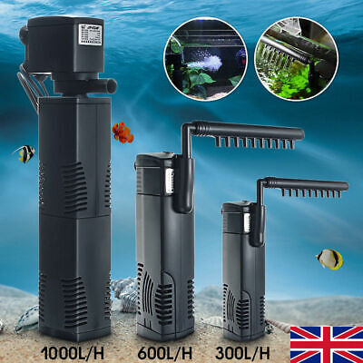 Hidom Internal Aquarium Fish Tank Filter Filtration Submersible Pump Spray Bar _