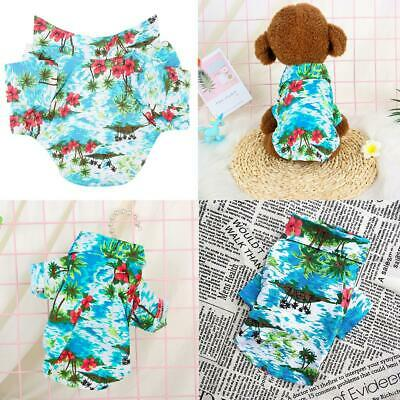 Hawaiian Print Cotton Pet Clothes Cat Dog Puppy Spring Summer Lovely Vest Tops