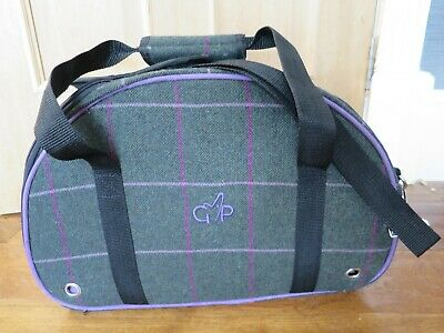 Gor Pets - Small Pet Carrier - Kensington Travel Bag - Tweed Check Purple detail