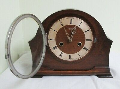 Antique Smiths Enfield Mantle Clock with Key - Spares/Repair