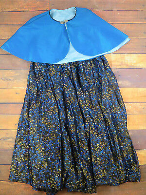Vintage Victorian Matching Cape & Skirt Christmas Market - Theatrical UK12-14