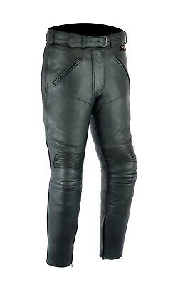 Leather Motorbike Motorcycle Trousers Touring Biker With CE Armour Protection