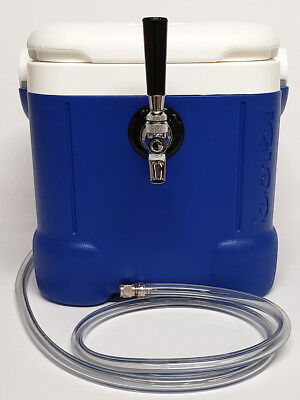 Mini Jockey Box Cooler Single Faucet Stainless Steel Coil Home Brewing Tailgate