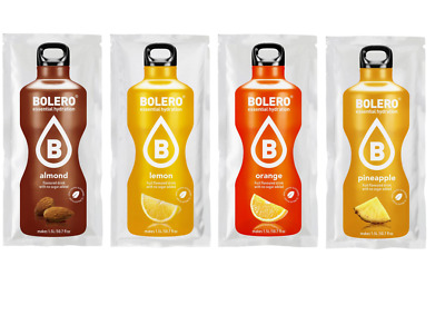 Bolero drink conf da 24 ALMOND-LEMON-PINEAPPLE-ORANGE Preparato istantaneo Zero