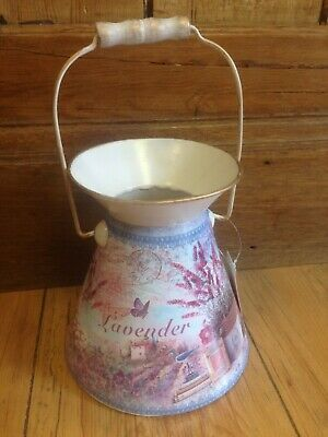 French Shabby Chic Country Style Decorative Lavender Floral Churn Fower Pot