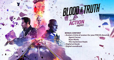 Blood and Truth VR PS4 Playstation 4 Bonus Extras DLC requires Game EMAILED NEW
