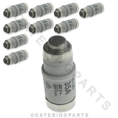 PACK OF 10 x CONVOTHERM 4005056 D02 35A 240V E18 FUSE LINK FUSES CONVECTION OVEN