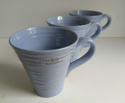 New Sophie Conran Portmeirion Mugs x 3 Forget-Me-Not Blue Discontinued Colour