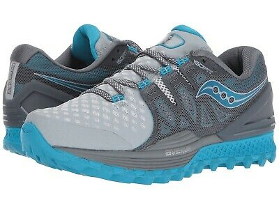 Saucony Xodus ISO 2 Trail shoes, Women's Size 10 B, Grey/Blue, S10387-2 NEW