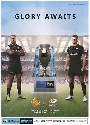 2019 Exeter Chiefs v Saracens 1/6/19 Gallaghers Premiership Play Off Final