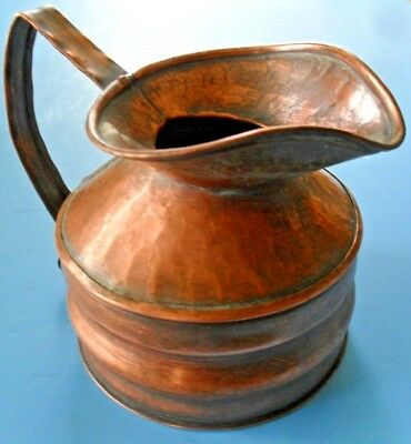 CRAFTSMAN 301 Arts & Crafts*MISSION Copper HAMMERED FORGED JUG*PITCHER*ANVIL MK