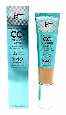 IT COSMETICS CC+ Full Coverage Cream Anti-Aging Serum LIGHT Foundation 32ml,40UV