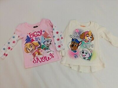 2b0a99f2 Paw Patrol Toddler Girl 2T Shirts, Lot Of 2 VGUC! Long Sleeve Pink and
