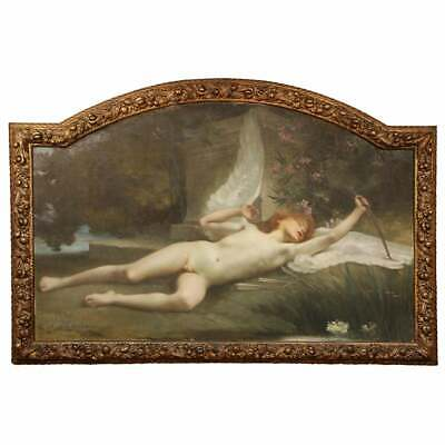 """Jules-Louis Machard (French 1839–1900) """"Dream of Eros"""" Exceptional Oil Painting"""