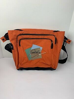 Eagle Good to Go Stitchery Carrying Case Bag Orange Large