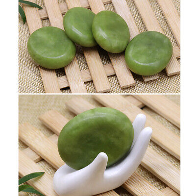 Green Natural Jade Stone for Facial Body Hot Stone Spa Massage 6 x 8cm
